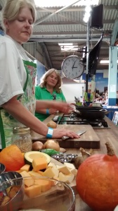 Malvern Autumn Show Our Lizzy on the Wot's Cooking Stage